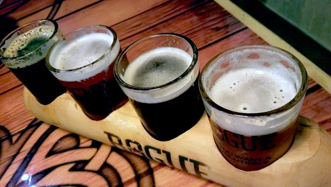 Create your own beer flight by choosing four beers on tap to sip at Shamrocks Pub and Eatery.