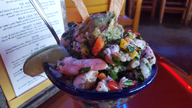 Ceviche seafood dish made at Don Juanz Baja Beach Tacos in Bossier City. The item will be available at the new location in Shreveport.