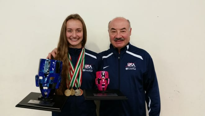 Sofia Komar, a 15-year-old Old Bridge High School freshman, was selected as a member of the USA team for the 2016 Cadet/Junior Pan American Fencing Championships in Cancun, Mexico.