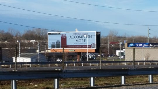 A Lancaster Country Day School billboard on Route 30