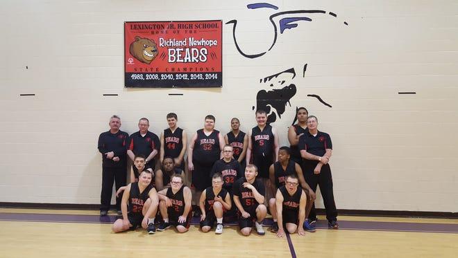 The Richland County Bears Special Olympics basketball team