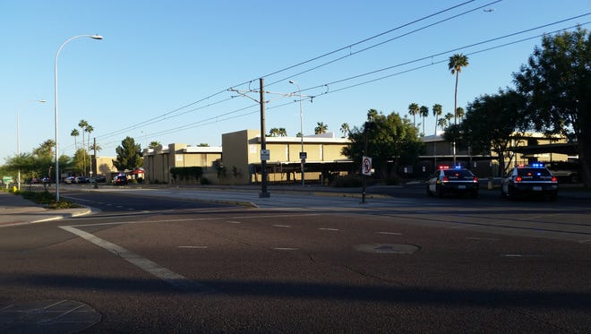 Tempe police are investigating a shooting that occurred March 18, 2016, at an apartment complex near Terrace Road and Lemon Street, just off Arizona State University's Tempe campus, that injured a 19-year-old man.