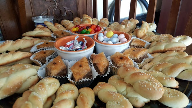 Easter Sunday for Greek-Orthodox Christians means special food, such as this spread in Staunton.