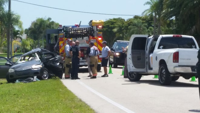 A Fort Myers man was taken to Lee Memorial Hospital in critical condition after a two-car collision Friday.