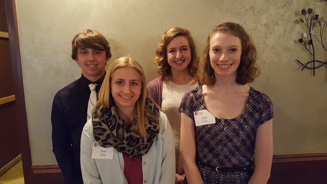 Pictured are the 2015 Wisconsin Alumni Association Fond du Lac Chapter scholarship winners. From left are Dylan Guelig, Hunter Waller, Alyssa Wciorka and Emily Loehr.