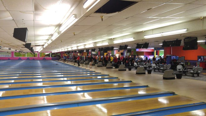 The state bowling tournament has been held during the past three weekends at Ten Pin Alley.
