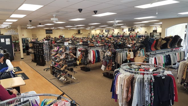 Clothes Mentor in Naples is having a sidewalk sale.