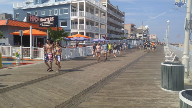 7th and Boardwalk in Ocean City, area of incident on Saturday, July 23 that resulted in 7 arrests