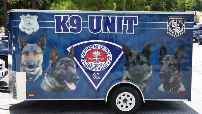 The Greenville Police K-9 Unit is holding a supplies drive to benefit Greenville County Animal Care on Aug. 10.