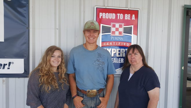 Erin Ambrose, from left, Kody Gregory and Sheila Kirsch