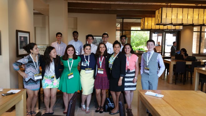 Members of We(fillintheblank), Coronado High School's student political organization, in Austin Saturday for the Texas Tribune Festival.