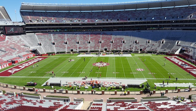 Alabama will look to win its 20th consecutive game dating back to last season today against Texas A&M