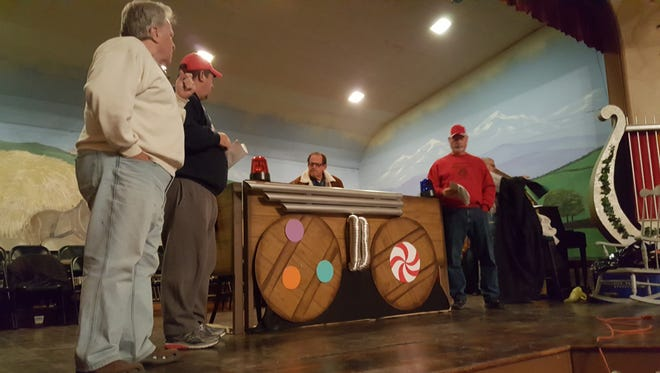 Mike Deicken, Jeff Jones, Charles Haas and Mike Kuhn practice for this year's Germania Christmas performance.