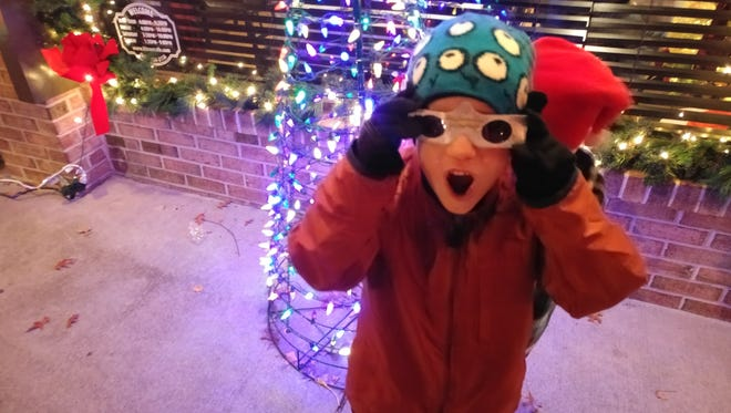 Holospex glasses make viewing holiday lights extra special in Collingswood.