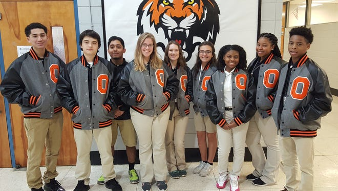 From left to right: Aaron Jackson, Antonio Quiroz, Ahraf Swati, Olivia Adams, Kassidy Stanford, Bridget Melancon, Breanna Charles, Haylyn Gallien, and Keenan Lamb.