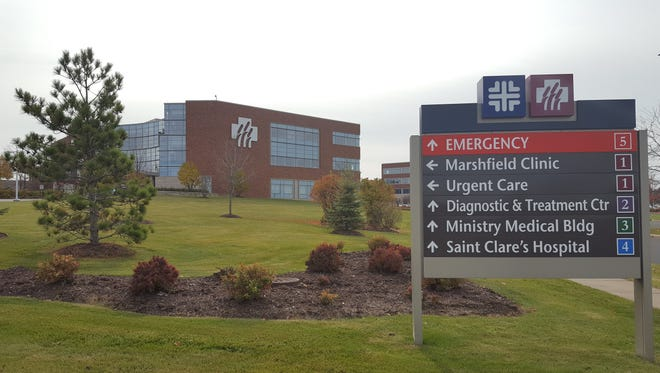 The medical campus with Marshfield Clinic and Ascension Wisconsin (formerly Ministry) facilities is shown here on Oct. 25, 2016.