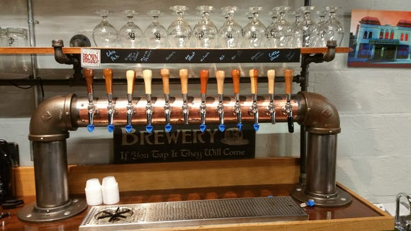 Evansville Brewhouse has 12 taps and a good selection of whiskey to enjoy. The brewery currently has seven house brews and four guest taps.