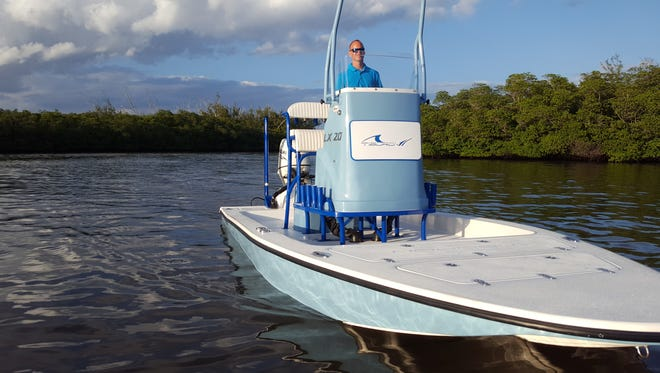 The Tiburon LX 21 is a shallow-draft flats and bay boat designed for inshore anglers who seek performance in skinny water. It is offered at Meridian Marina in Palm City and is scheduled to be at this year's Stuart Boat Show.