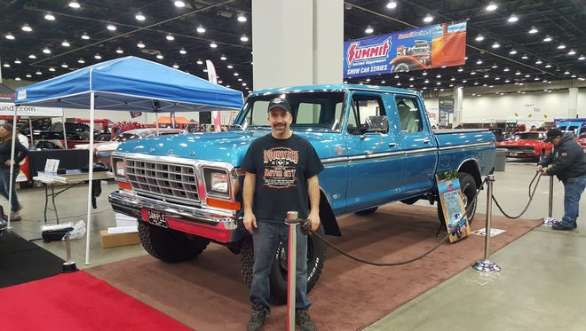 John Zakarian of South Lyon with his 1979 Ford 250 at last year's Autorama.