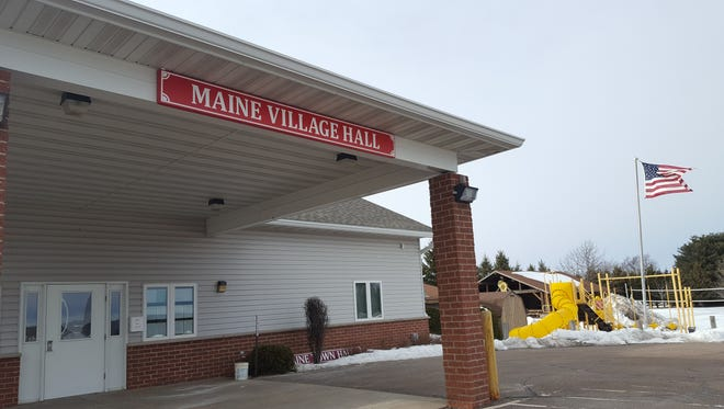 Maine residents voted to become a village in December 2015 and in late 2016 a judge ruled that a lawsuit with Wausau could not strip Maine of its village status. The village hall is shown here on February 2017.
