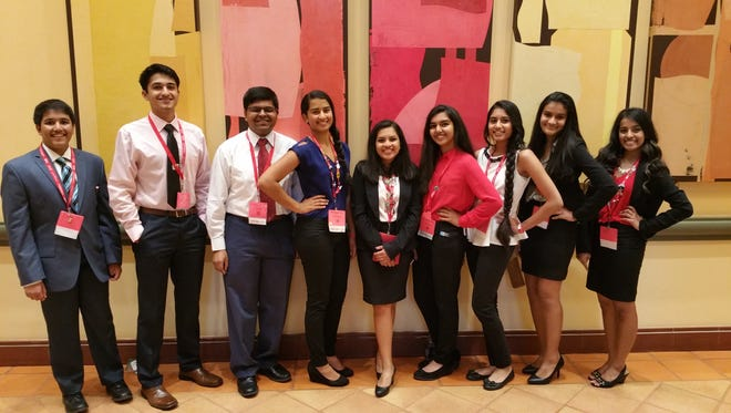 """Nine Farmington High School students participated in this year's """"Spread Your Wings"""" leadership conference."""