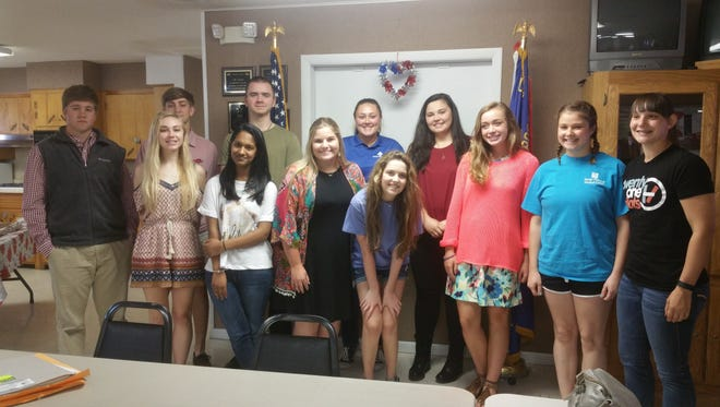 Alley-White American Legion Post 52 & Auxiliary Unit 52 sent a total of 13 delegates to attend the 2017 sessions of Arkansas Boys State (UCA in Conway) and Arkansas Girls State (Harding University in Searcy), held from May 28 through June 2. These programs are intense, week-long immersions in what it means to be good citizens and how the American system of government works, at all levels. Delegates, who must be finishing their junior year in high school, are sponsored by the Legion and Auxiliary, individuals, local businesses and community organizations. This year's delegates include, from Mountain Home High School: Molly Barnett, Alexa Darracq, Payton Dhooge, Gaby Edavettal, Bradley Ludwig, Drake Patrick, Bowen Stump, Savannah Thrasher and Reese Wendfelt (not in photo); and from Cotter High School: Kaycie Beard, Casey McNair, Marie Reed and Morgan Wilcoxson.