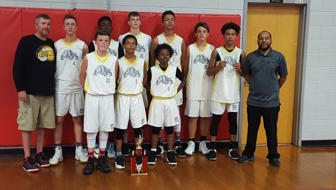 The Asheville Big Time eighth-grade boys basketball team won the YBOA state tournament held the weekend of June 3-4 in Forest City.
