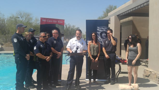 Off-duty NICU nurse Amanda Smith awarded for saving the life of a 4-year-old after a near drowning that happened June 1st. She was awarded with a life-saving award Monday from Scottsdale Fire Department and AMR-Life Line Ambulance.