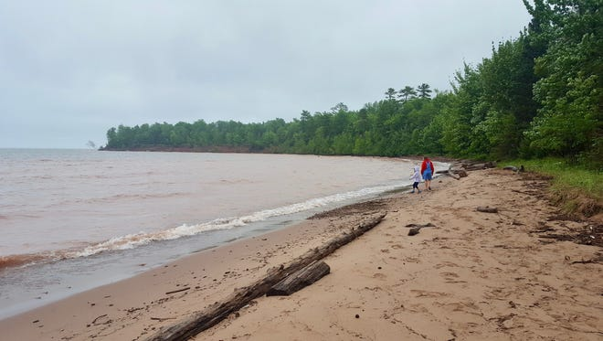 The beach at Big Bay State Park on Madeline Island stretches for 1.5 miles along Lake Superior.