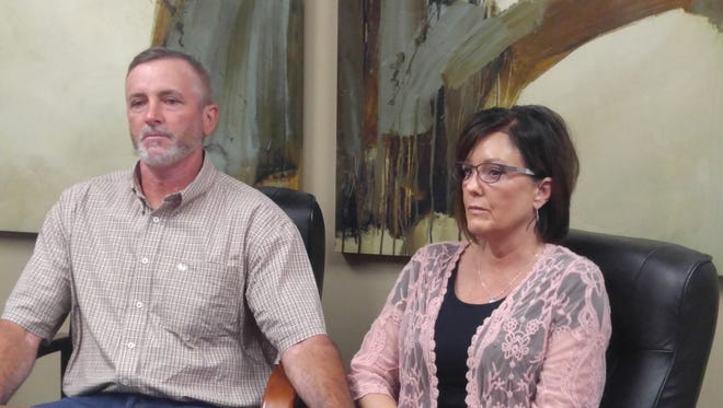 Parents of Brad Moore, who died following a stolen truck chase through Phoenix, speaks about notice of claim fired for a wrongful death on Monday. Lawrence and Kimberly Moore sat with Lawyer Jason Lamm as they presented the claim to reporters.
