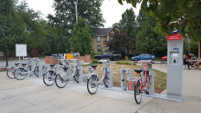 This hub is one of four placed around the Des Moines area. Two more hubs and three stand alone BCycle stations will be completed by the end of 2017.