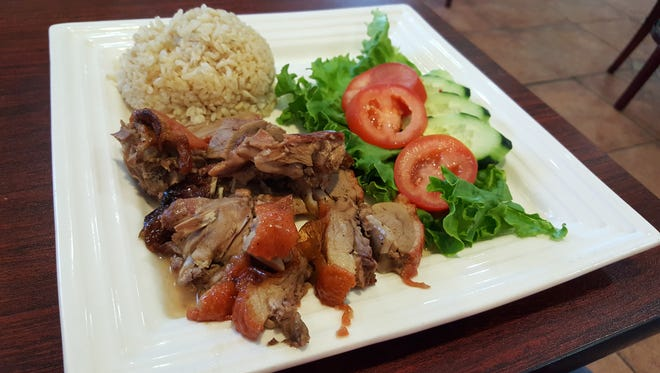 Roasted Duck with Brown Rice ($9.95) at Pho A Dong, 504 E. Amador Ave.