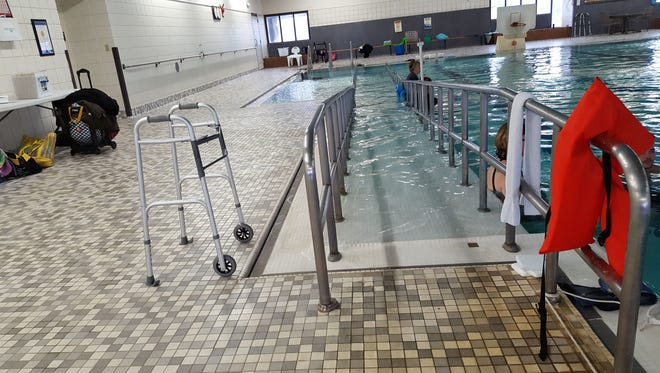 The aquatic therapy pool at North Central Health Care in Wausau.