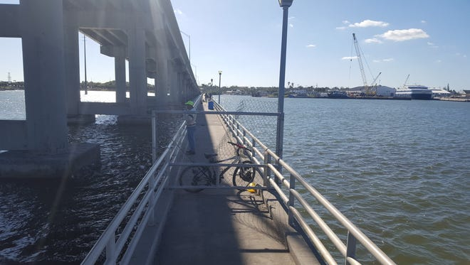 Are anglers' days numbered at South Bridge fishing catwalks? Could be. Plans to complete bridge work include closing the catwalks to fishing activity once the project is finished.