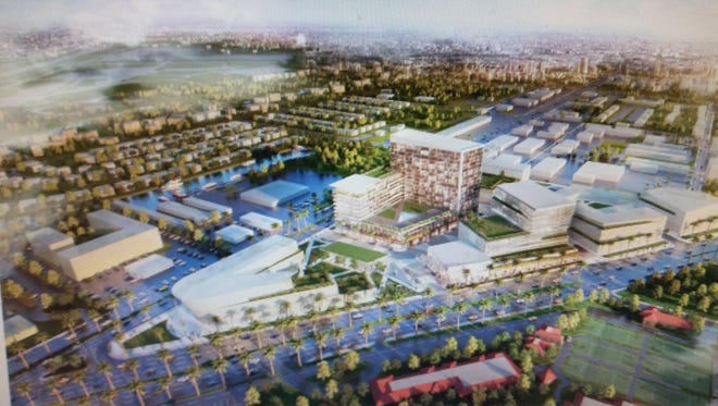 Rendering of possible East Naples redevelopment project