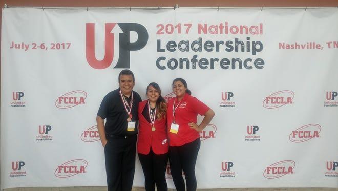 Francisco Soto, left, Aylin Valdez and Ashley Perez.