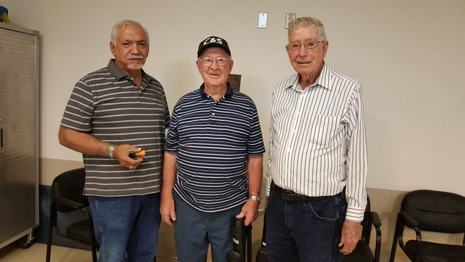 Pictured are January winners Henry Telles, left, Frank Smith and Joe Small.