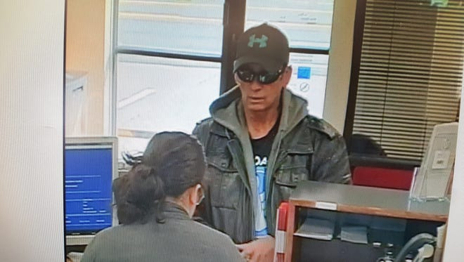 Clarksville police are searching for this suspect, wanted in connection with a Thursday bank robbery.