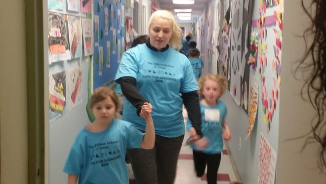 Ellison School students raised funds for their school with Laps for Learning.