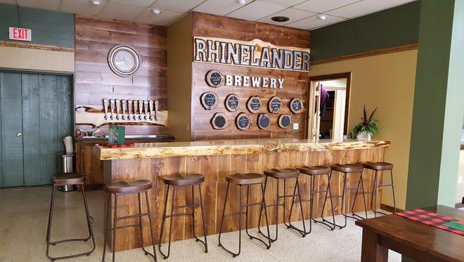 The taproom at Rhinelander Brewing Company, in Rhinelander.