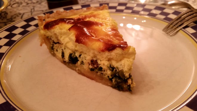 Nettle and ramp quiche.
