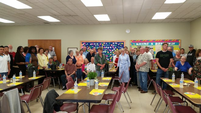 Pictured are Broken Bread volunteers when they gathered for a recognition banquet on May 9.