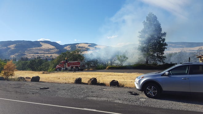 A fire broke out at the westbound Memaloose rest area around 6 p.m. Friday, July 6.