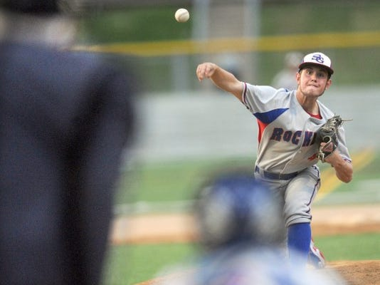 Spring Grove's Nick Spangler delivers a pitch during a game in May. Spangler earned a spot on the Big 26 Baseball Classic roster. (GameTimePA.com -- File)