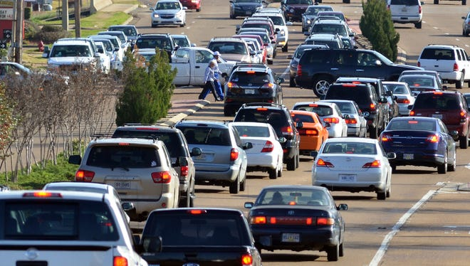 It's an annual event to see traffic jammed up along County Line Road during the holiday season.