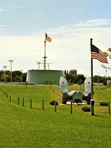 A postcard of the USS South Dakota Memorial dating