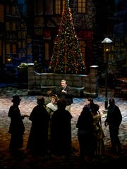 Alabama Shakespeare Festival Producing Artistic Director Geoffrey Sherman talks with the cast of A Christmas Carol on the Festival Stage at the ASF in Montgomery, Ala., on Wednesday November 16, 2016. The ASF production of A Christmas Carol runs from November 20 through December 24.