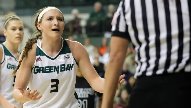 Green Bay Phoenix guard Frankie Wurtz (3), pictured in a game last season, scored 14 points in a loss to IUPUI on Friday.