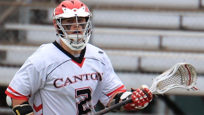 Throughout his career with Canton's varsity boys lacrosse team, attackman Brocton Baechler (No. 2) has provided an offensive spark. He will look to do the same at Siena Heights.