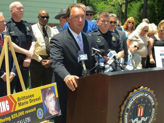 FBI Special Agent in Charge David Thomas speaks to